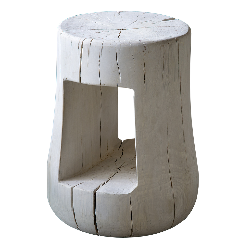 Bleached Wood Side Table Found For The Home