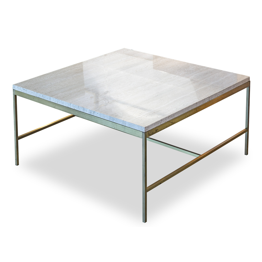 Paul Mccobb Travertine Coffee Table Found For The Home
