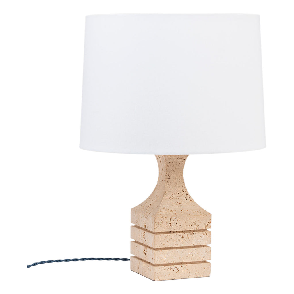 Vintage Italian Travertine Lamp, 1970s