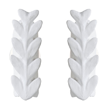 Pair of Wall Lamps with Large Acanthes