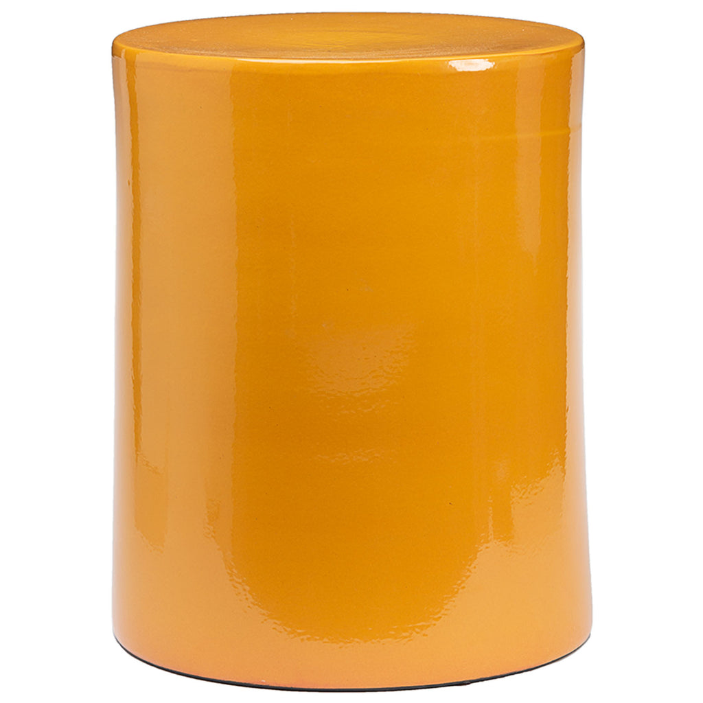 Ceramic Side Table in Ocher