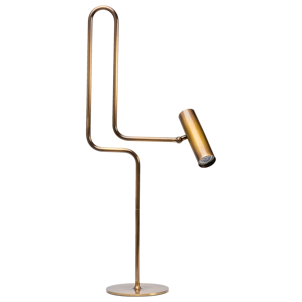 Pivot Desk Lamp in Hand Rubbed Brass