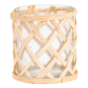 Small Cane Weave Vase