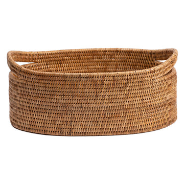 Oval Basket with Cutout Handles