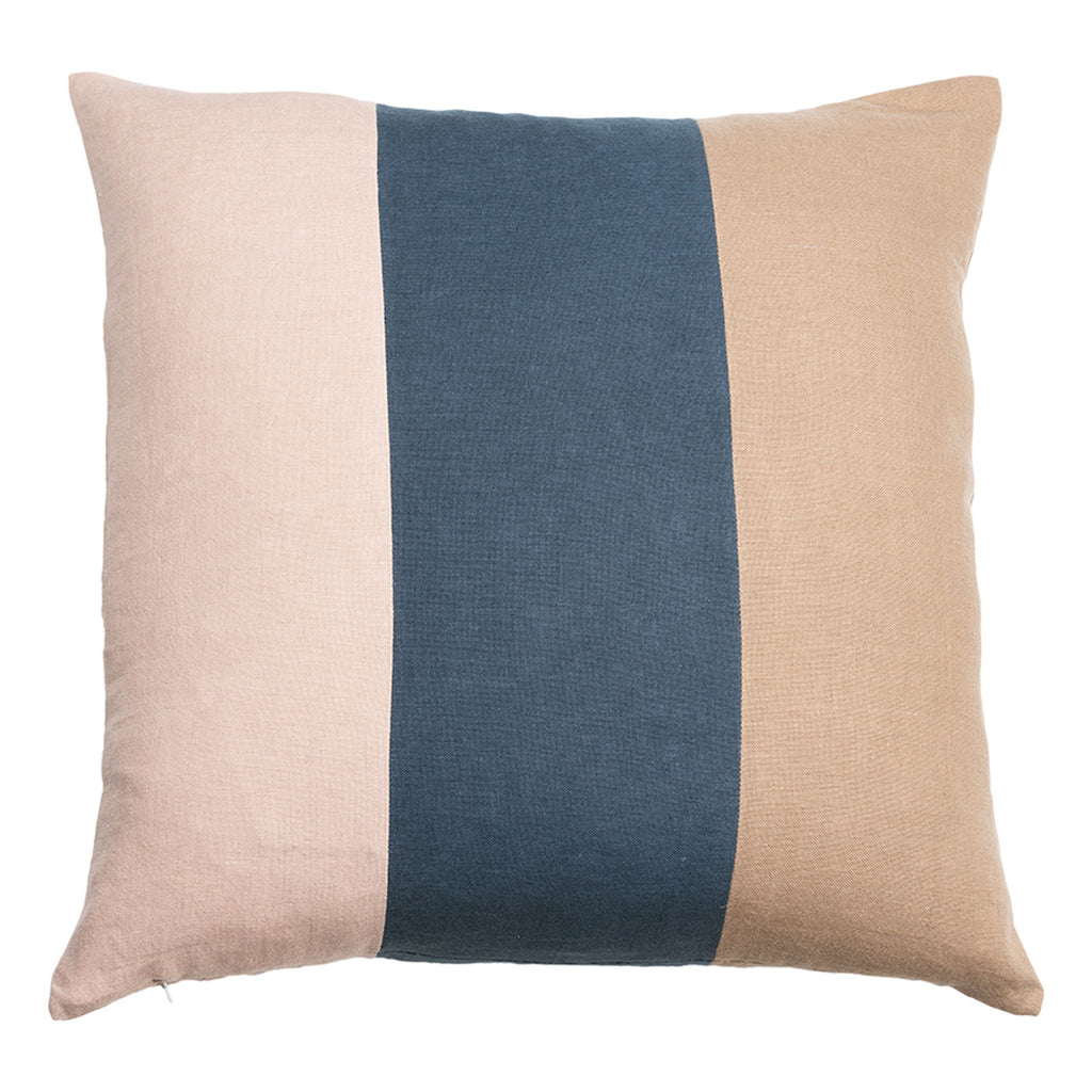 Color Play Striped Pillow Tri Colored
