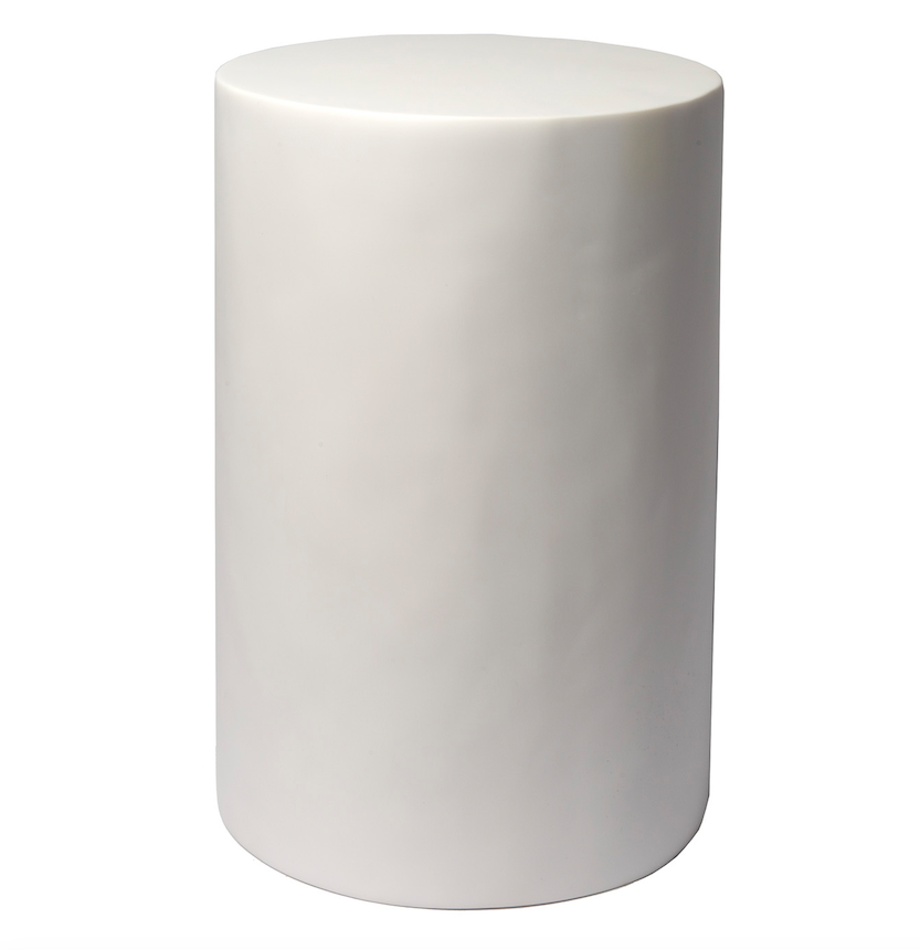 Cylindrical White Stool