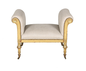 Late 19th Century Neoclassical Style Giltwood Bench