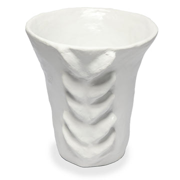Matte White Terracotta Acanthe High Vase