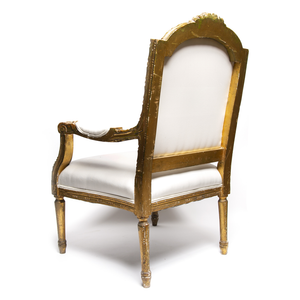19th Century Louis XVI Gilt French Arm Chairs