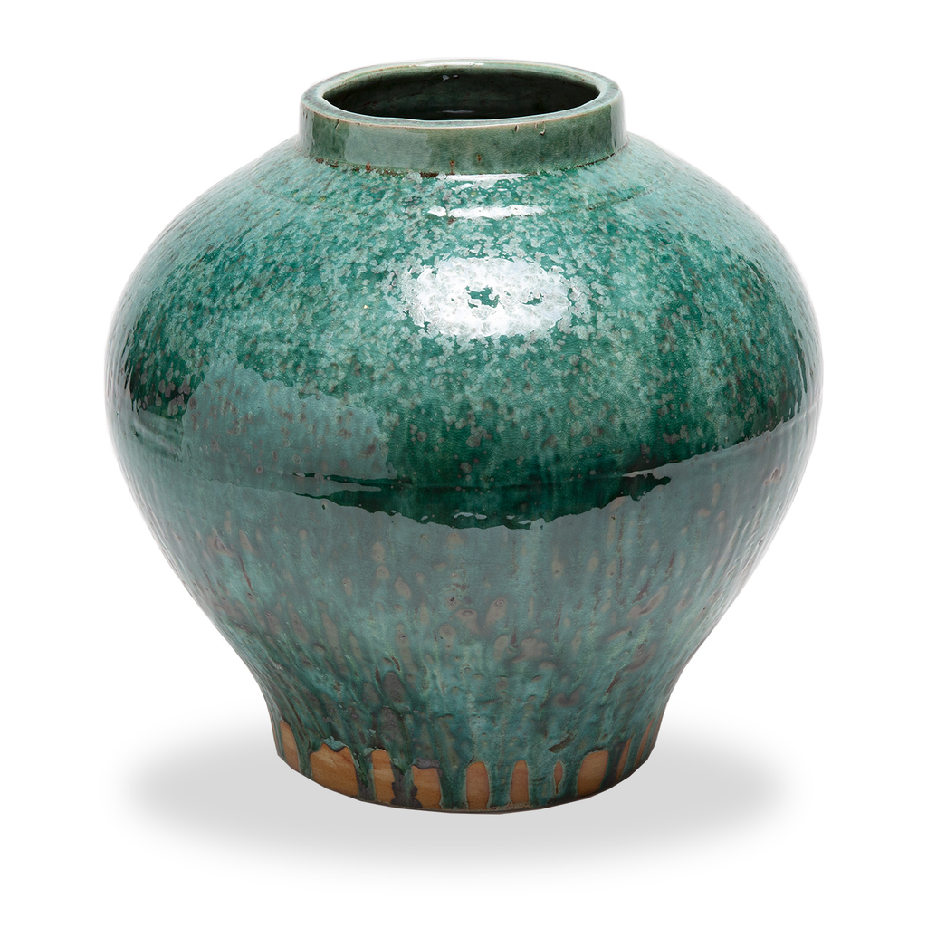 Green Mottled Jar