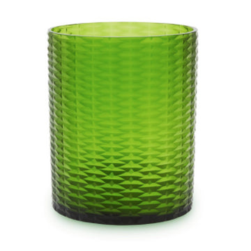 Hurricane Vase in Emerald Green
