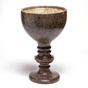 Napoleon Tigre Marble Goblet Form Footed Urn