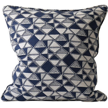 Cairo Indigo Linen Cushion