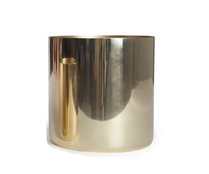 Small Louise Brass Cache Pot
