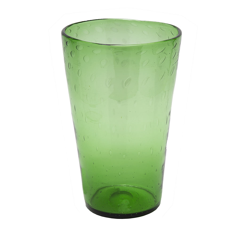 Verde Glass Vase from Empoli, Italy