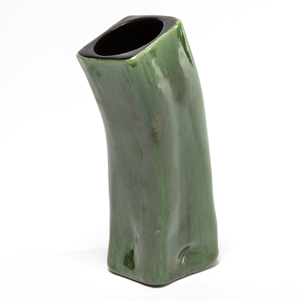 Art Deco Green Vase