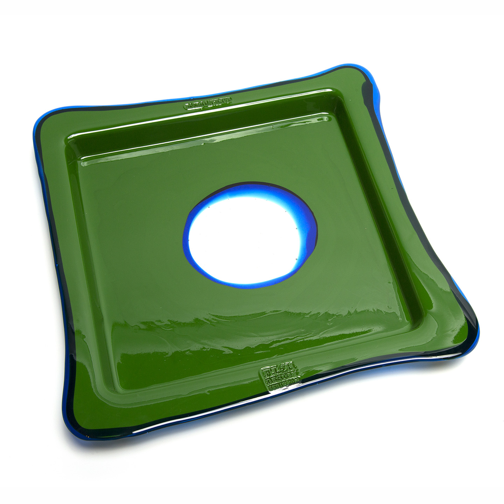 Green and Klein Blue Squre Tray