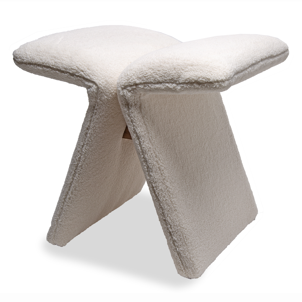 Upholstered Butterfly Stool