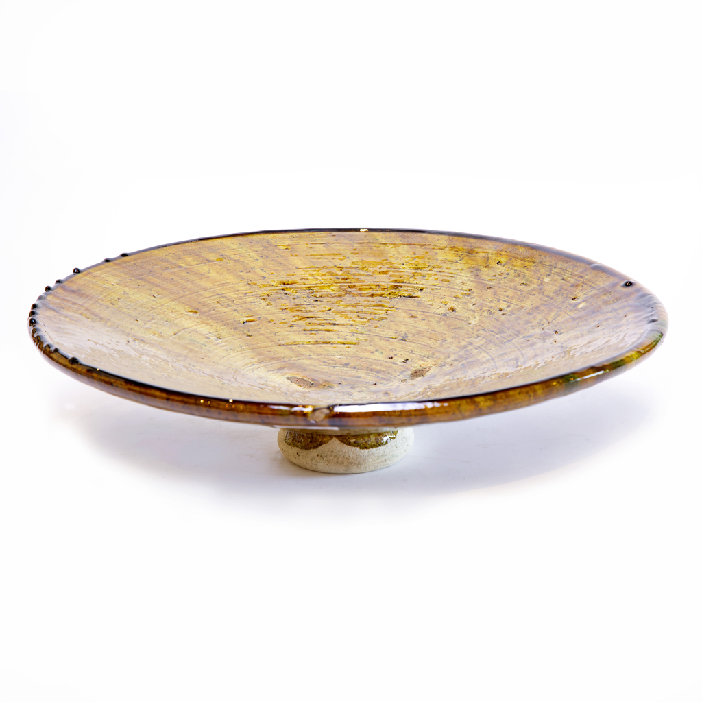 Extra Large Platter in Raw Sienna from Morocco