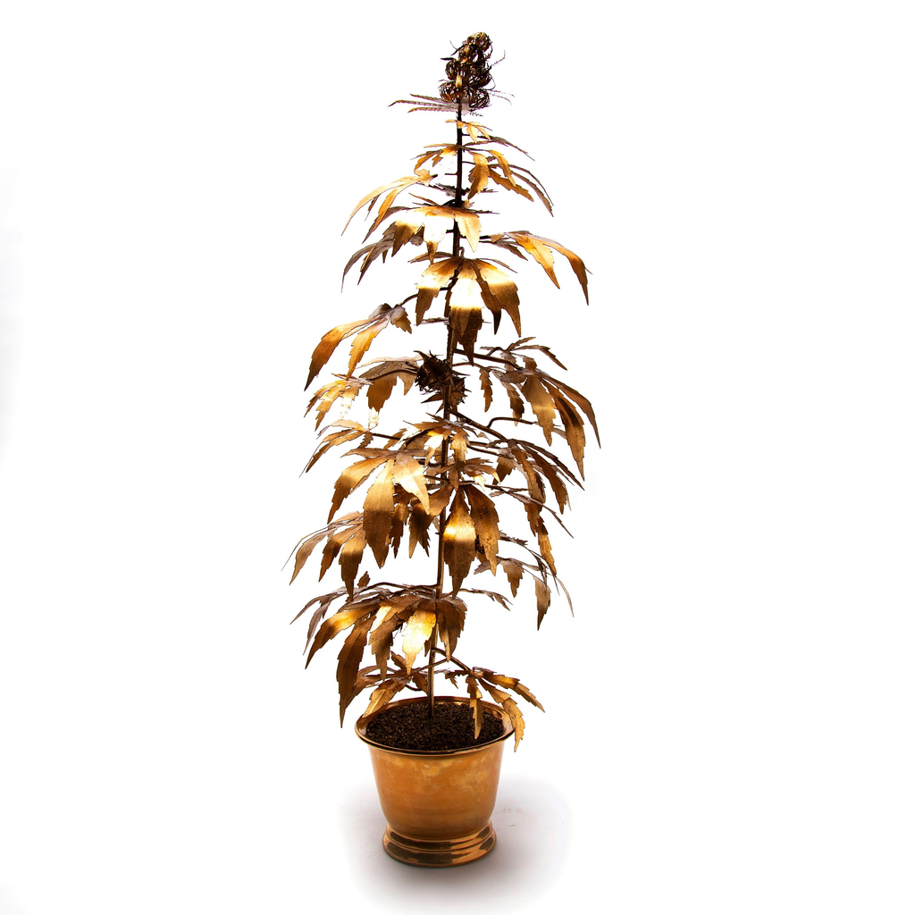 Handcrafted Gilded Plant