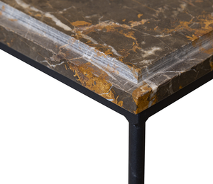 Monsieur Boules Marble Console Table