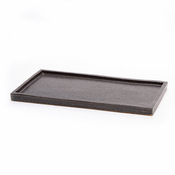 Black Rectangle Ceramic Tray