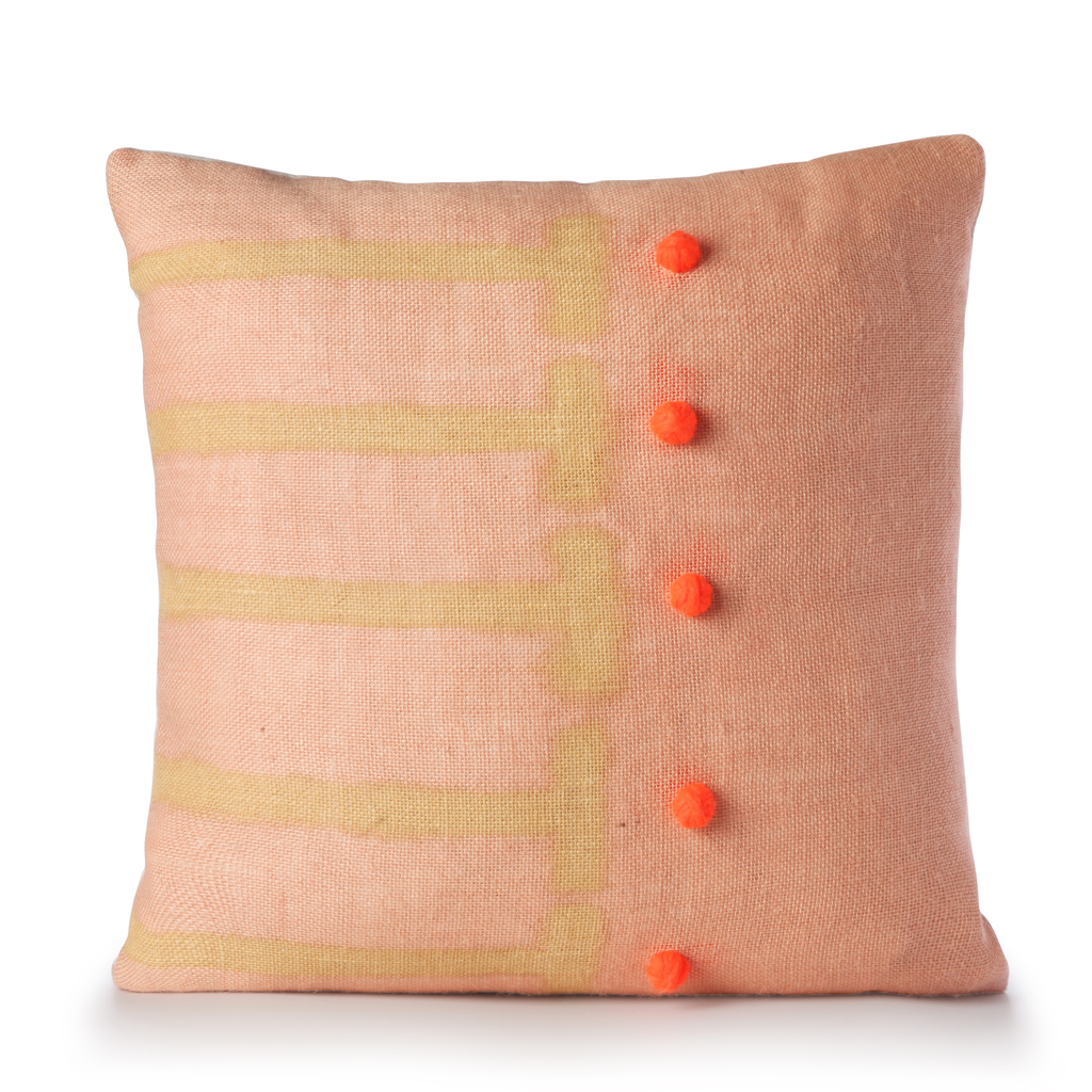 Scale Pillow in Blush