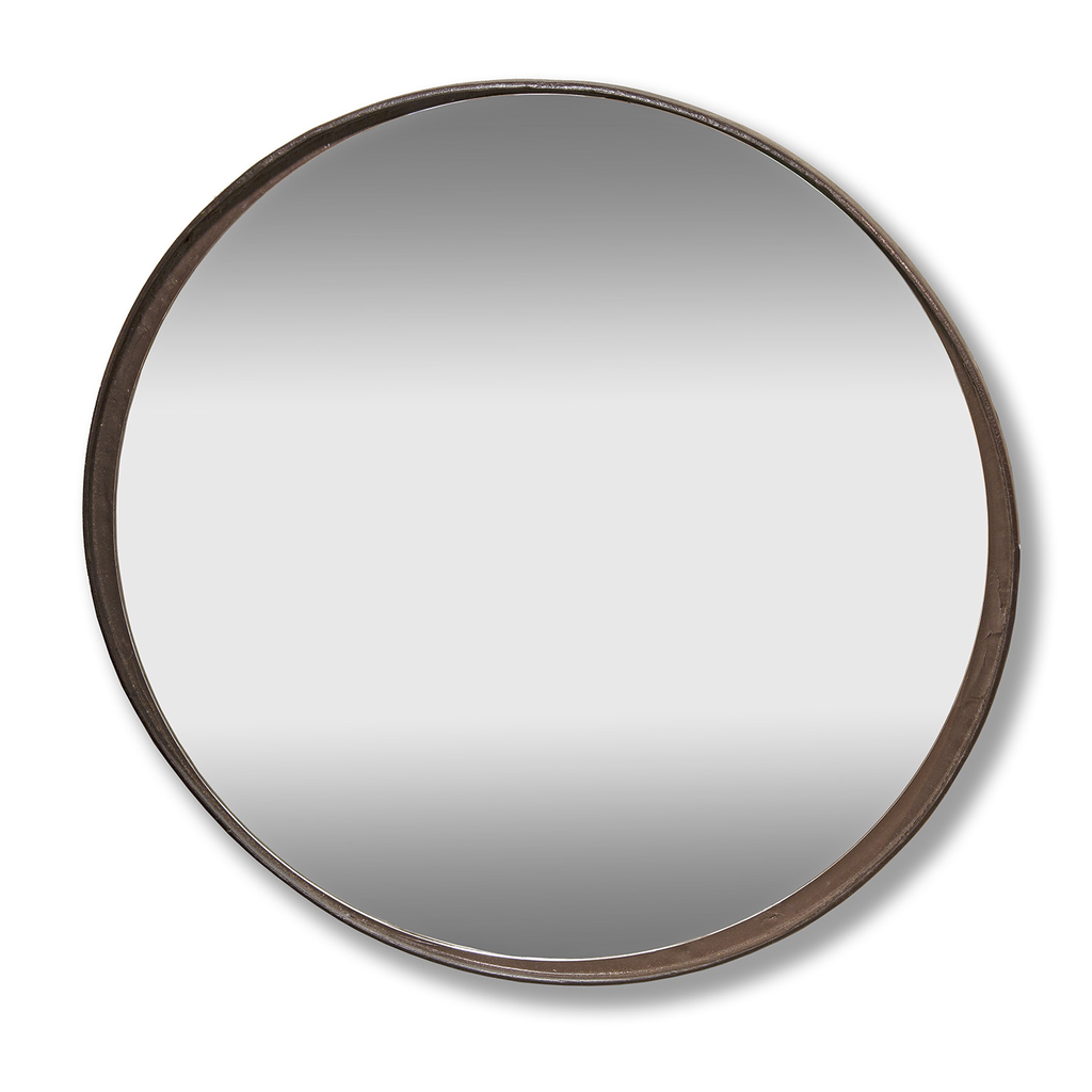 Heavy Industrial Round Mirror