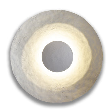 "Eclipse Light in White. Dim: 36"" Diameter"