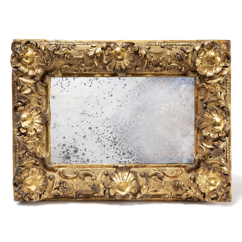 Antique Mirror with Ornate Frame