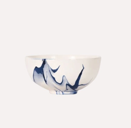 Berry Bowl in Delft Blue Marble