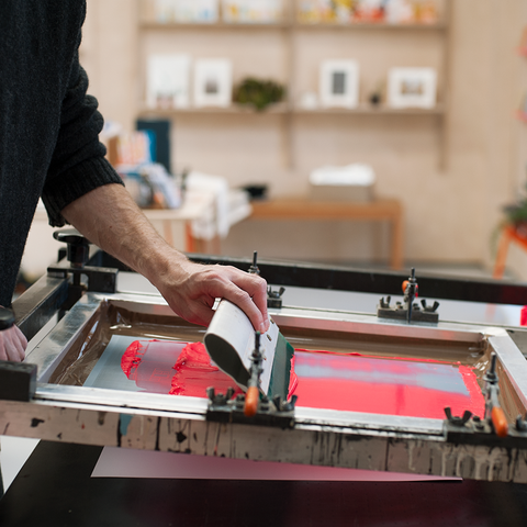 Bespoke Intro to screen printing course.