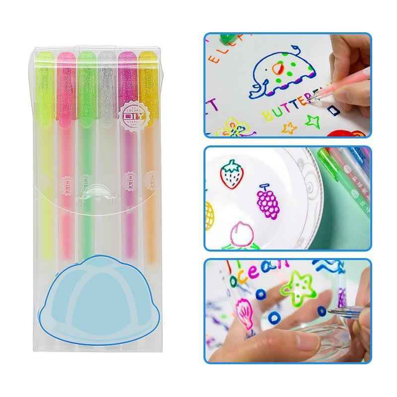 Ensemble de stylo coloré 3D