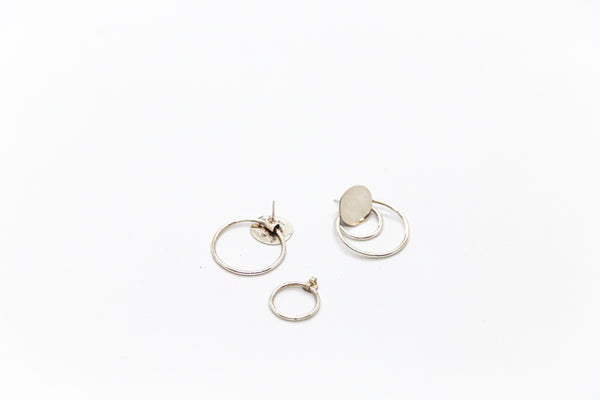 Silver Double Ear Ring