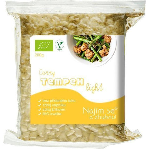 Tempeh LIGHT Curry BIO 200 g - E-shop Najím se a zhubnu