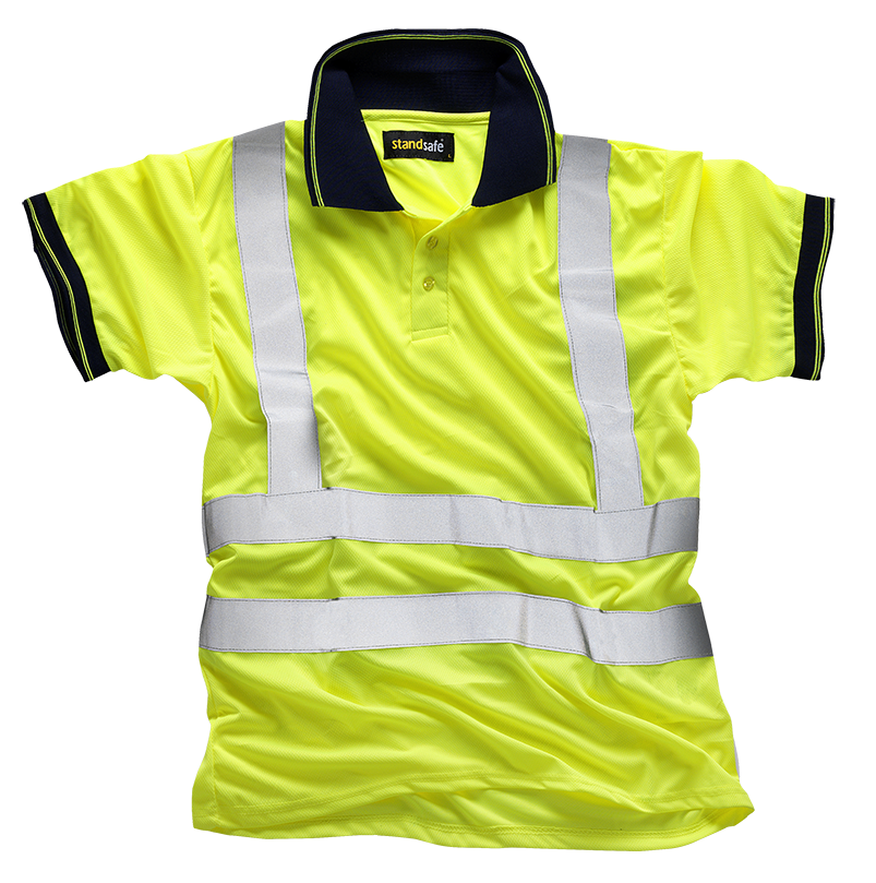 e4da8e9c BULK BUY 5x Hi vis Polo Shirts (short sleeve) - YELLOW – Ndo Supplies