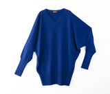 100% cashmere dolman sleeve pullover-UTO