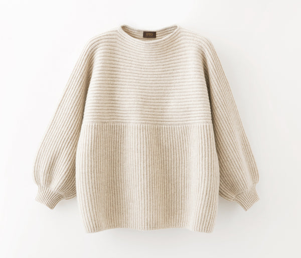 100% of cashmere rib stitch knit tunic - UTO