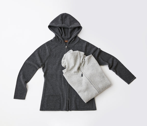 100% of cashmere parka bag knitting type - UTO