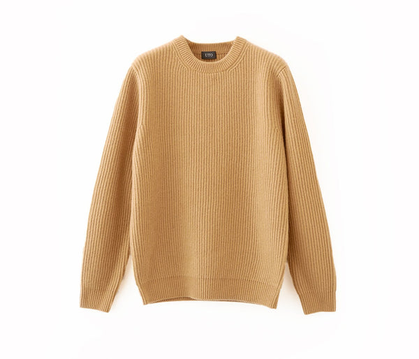 100% of cashmere both ridges crew neck sweaters