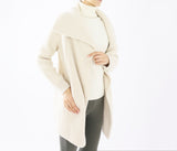 100% cashmere double open front jacket-UTO