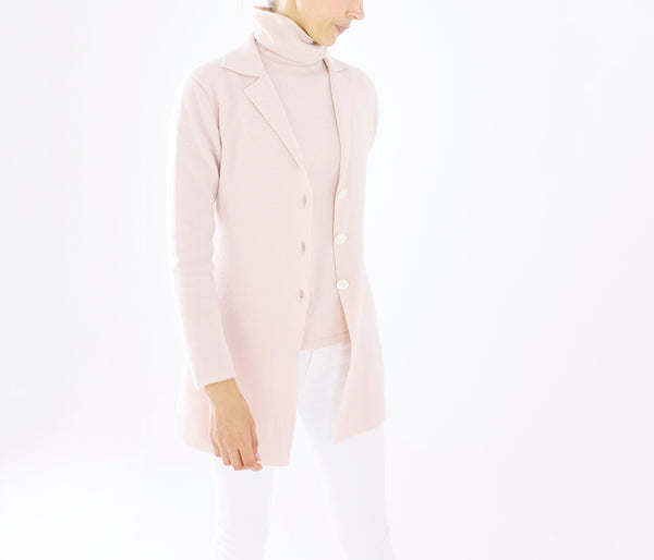 100% cashmere long flared tailored jacket-UTO
