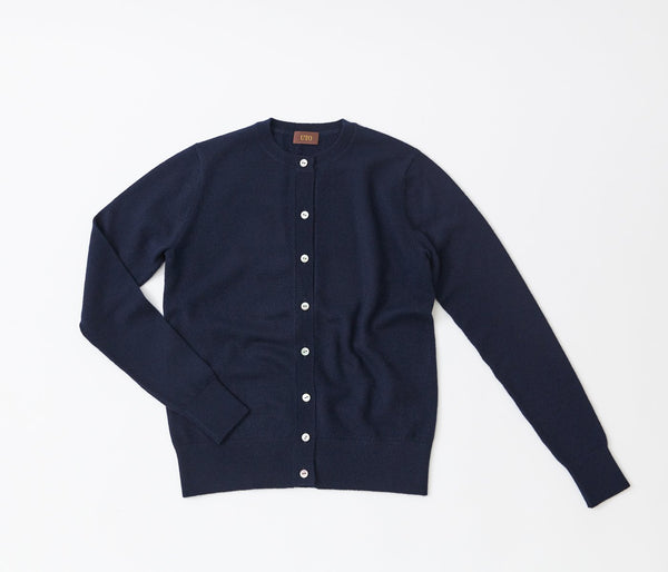 100% cashmere crew neck cardigan_2nd line