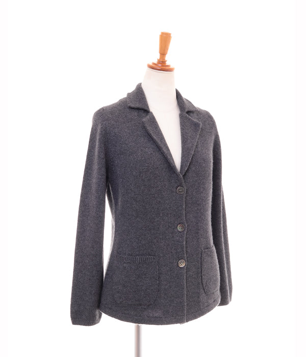 Cashmere 100% Tailored Knitted Jacket - UTO