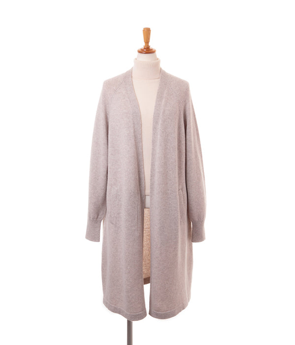 Cashmere 100% Open Front Long Long Cardigan - UTO