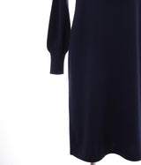 100% of cashmere crew neck waist shape dress - UTO