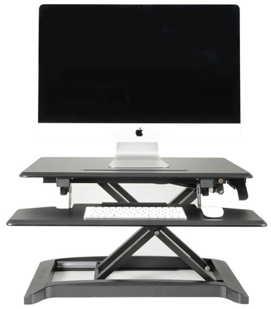 Sit-Stand Hydraulic Desktop Workstation with Keyboard Shelf