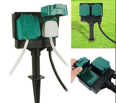 Weatherproof Outdoor Extension Socket/Spike