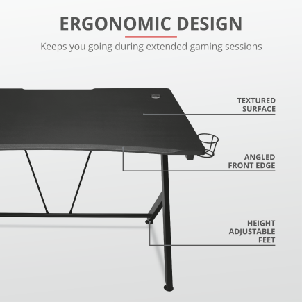 Trust Dominus PC work and gaming desk
