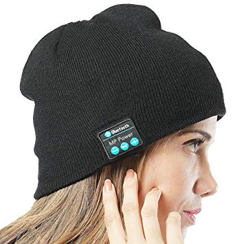 Bluetooth Beanie: Built-in headphones and handsfree